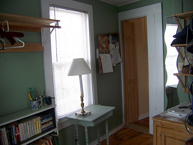 The dressing area has closet space for two, plus room for changing clothes